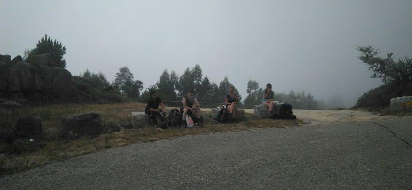 pilgrims taking a break - variante espiritual