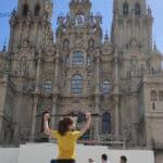 Lucia Moure Llegada Santiago de Compostela