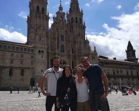 Pilgrims family at santiago
